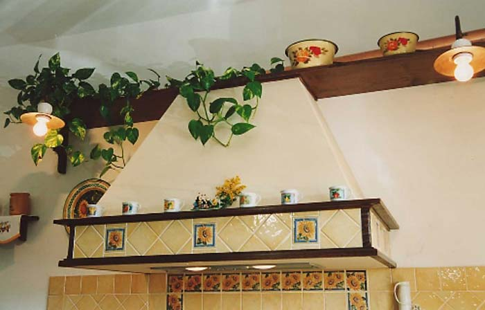 Pafen mobili bottega artigiana dal 1920 - Cappa cucina in muratura ...